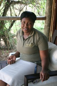 Thandi Sibuyi is proud to have never received a single cleaning complaint at Rhino Post Safari Lodge, and plans to hold this record