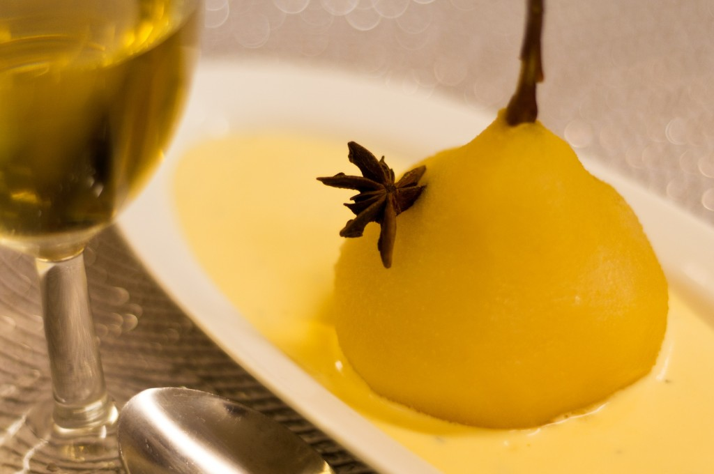 Heavenly poached pear - made and photographed by Executive Head Chef of all Isibindi Africa Lodges, Carl Moller