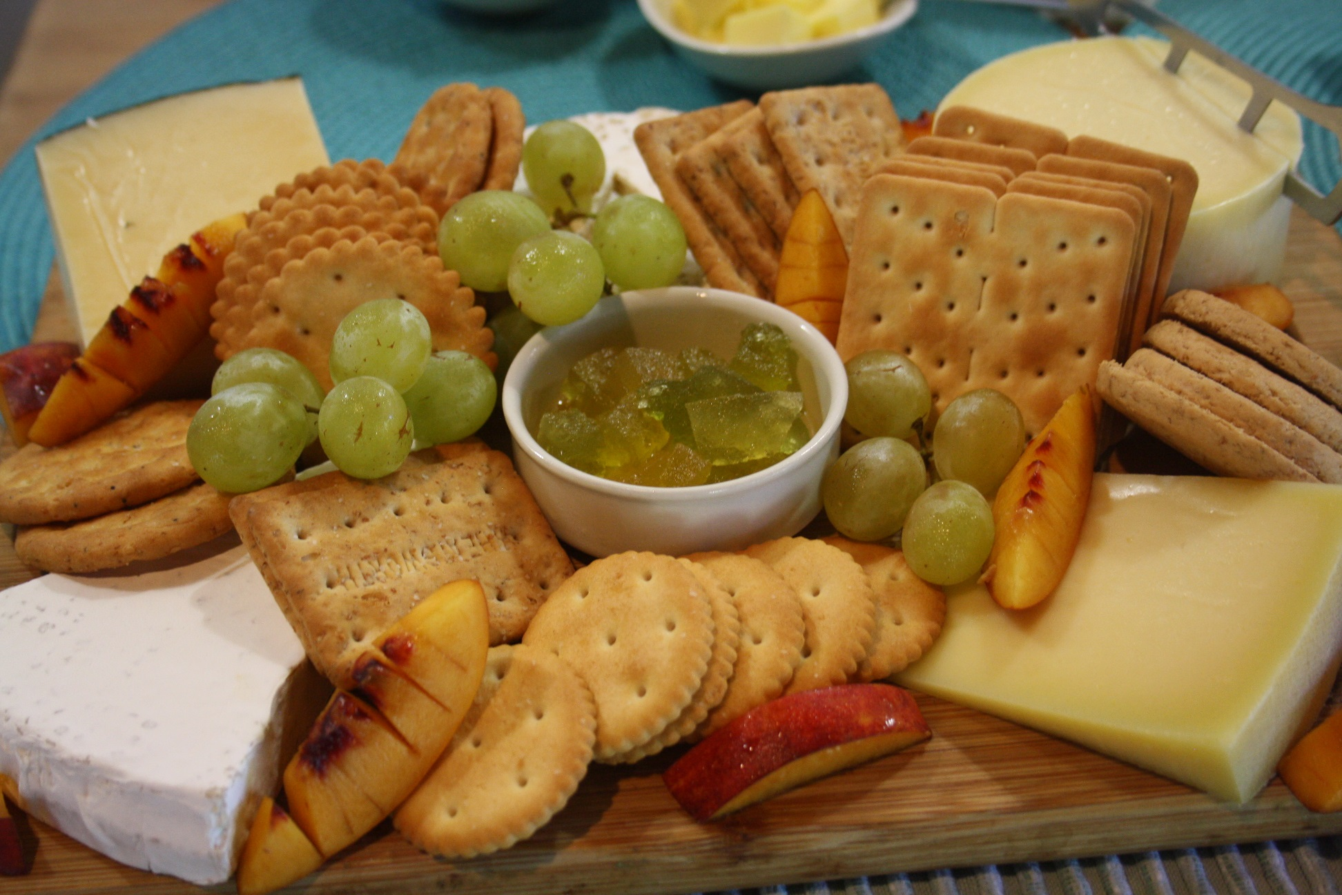 Delicious local cheeses and preserves