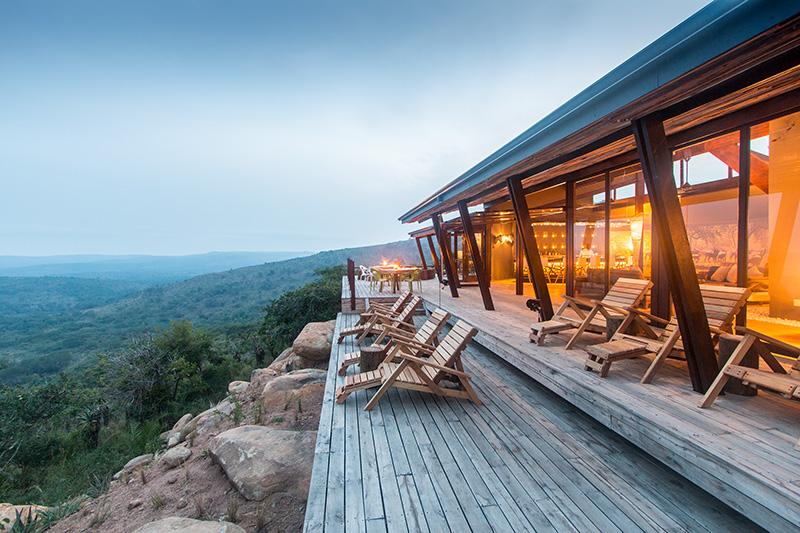 Rhino Ridge Safari Lodge - main deck. Photograph by Guy Upfold.