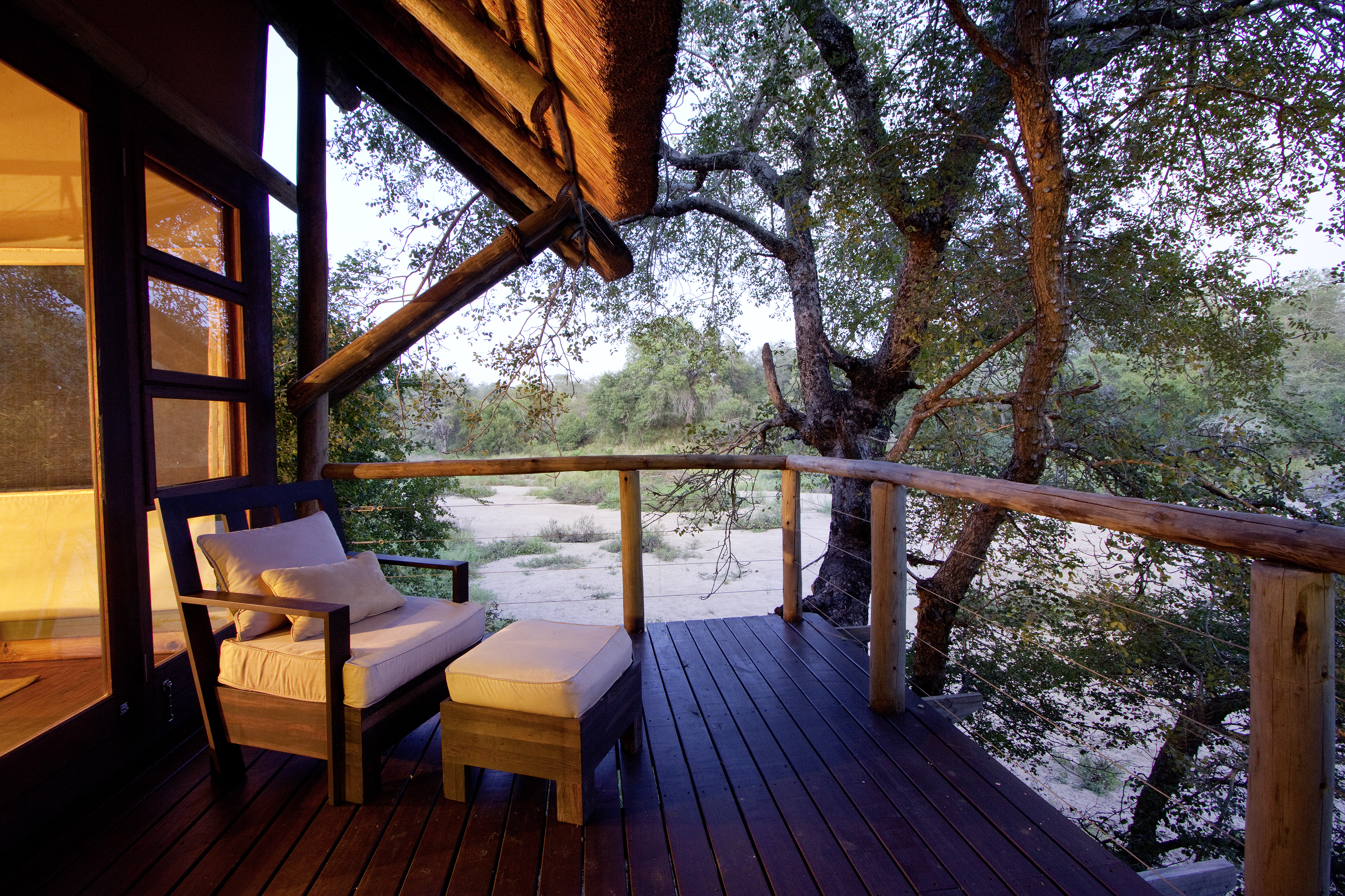 The oh-so-lovely, award-winning Rhino Post Safari Lodge, managed by Nikki Meyer