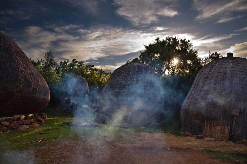 Isibindi Zulu Lodge boma dinner at dusk