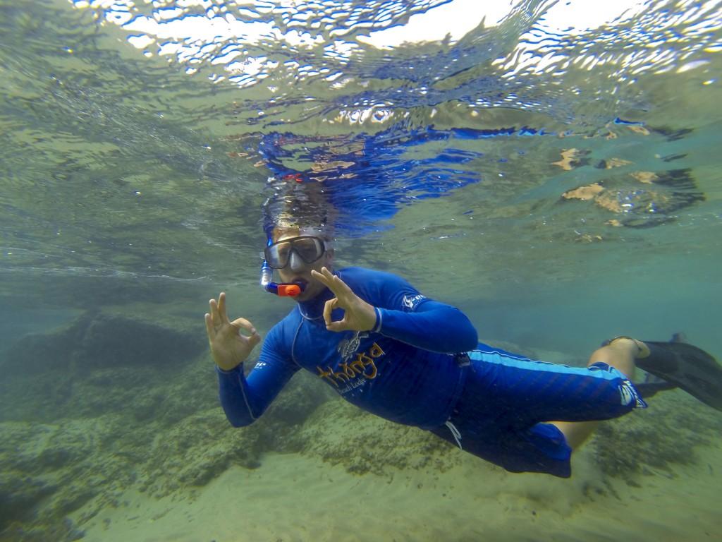 In snorkeling heaven