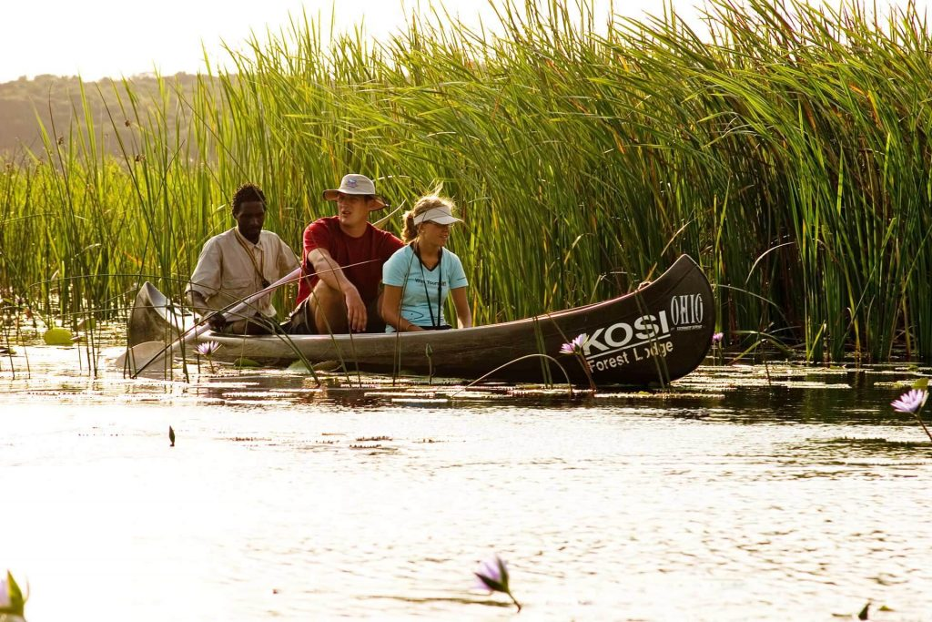 Canoeing at Isimangaliso, Kosi Forest Lodge. Isibindi Southern Africa Safari Lodge Package Holidays