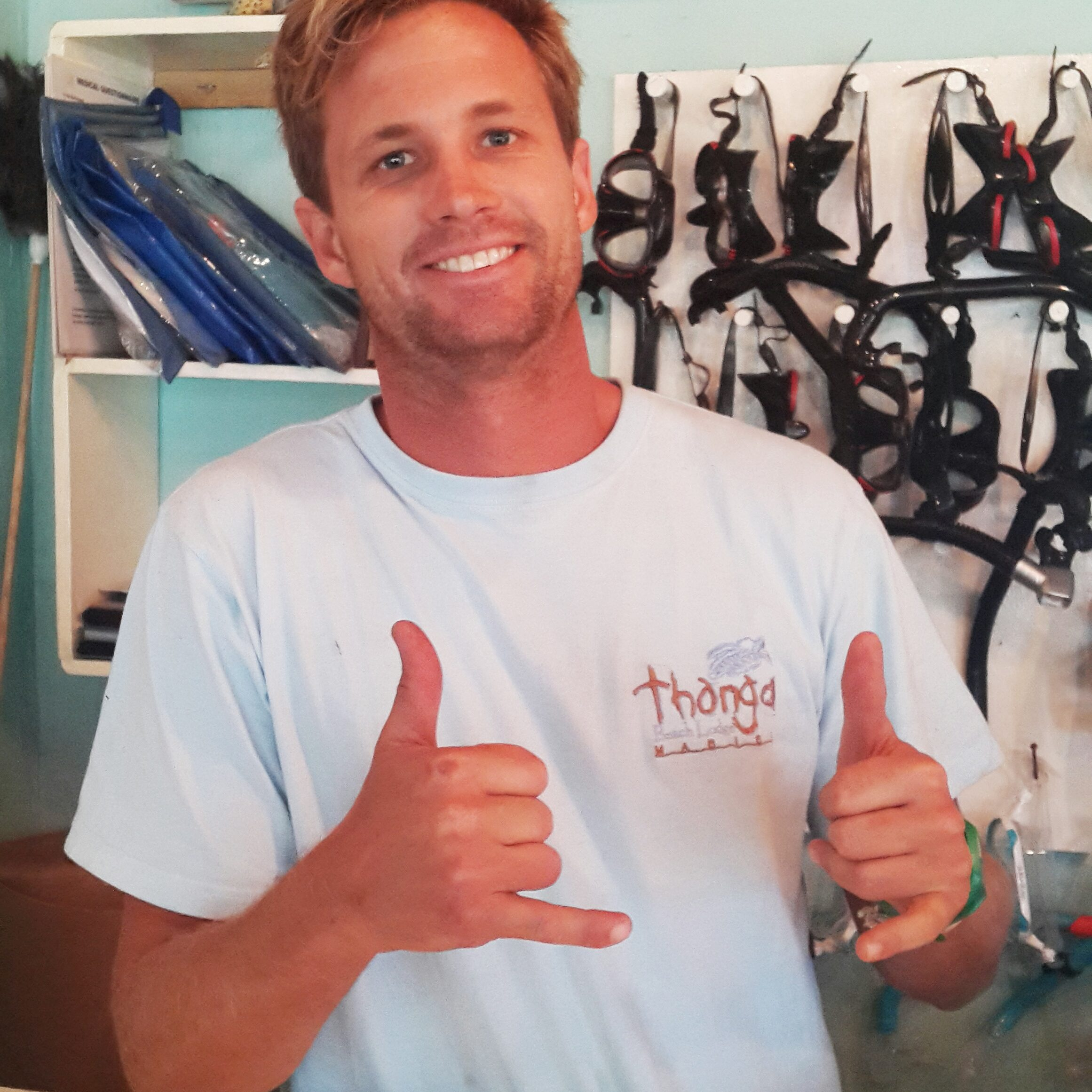 Clint Morkel (Manager of the Marine Centre, and skipper)