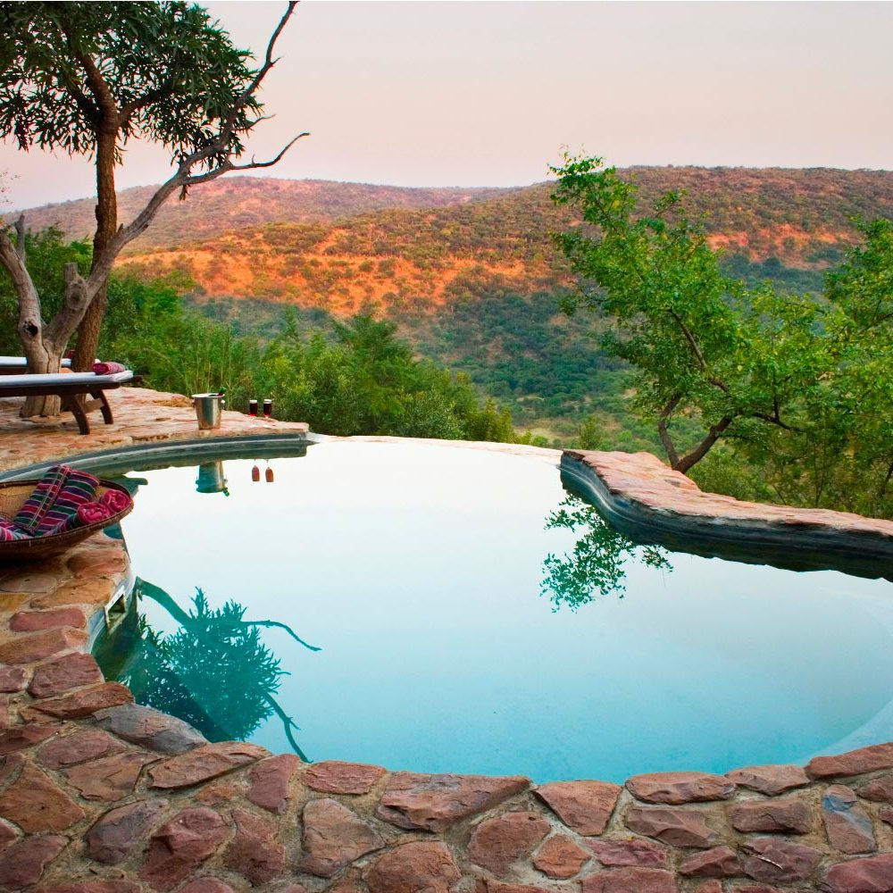 Isibindi Zulu Lodge pool with views to forever